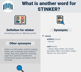 stinker, synonym stinker, another word for stinker, words like stinker, thesaurus stinker