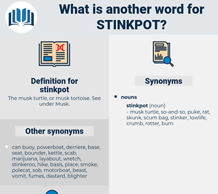 stinkpot, synonym stinkpot, another word for stinkpot, words like stinkpot, thesaurus stinkpot