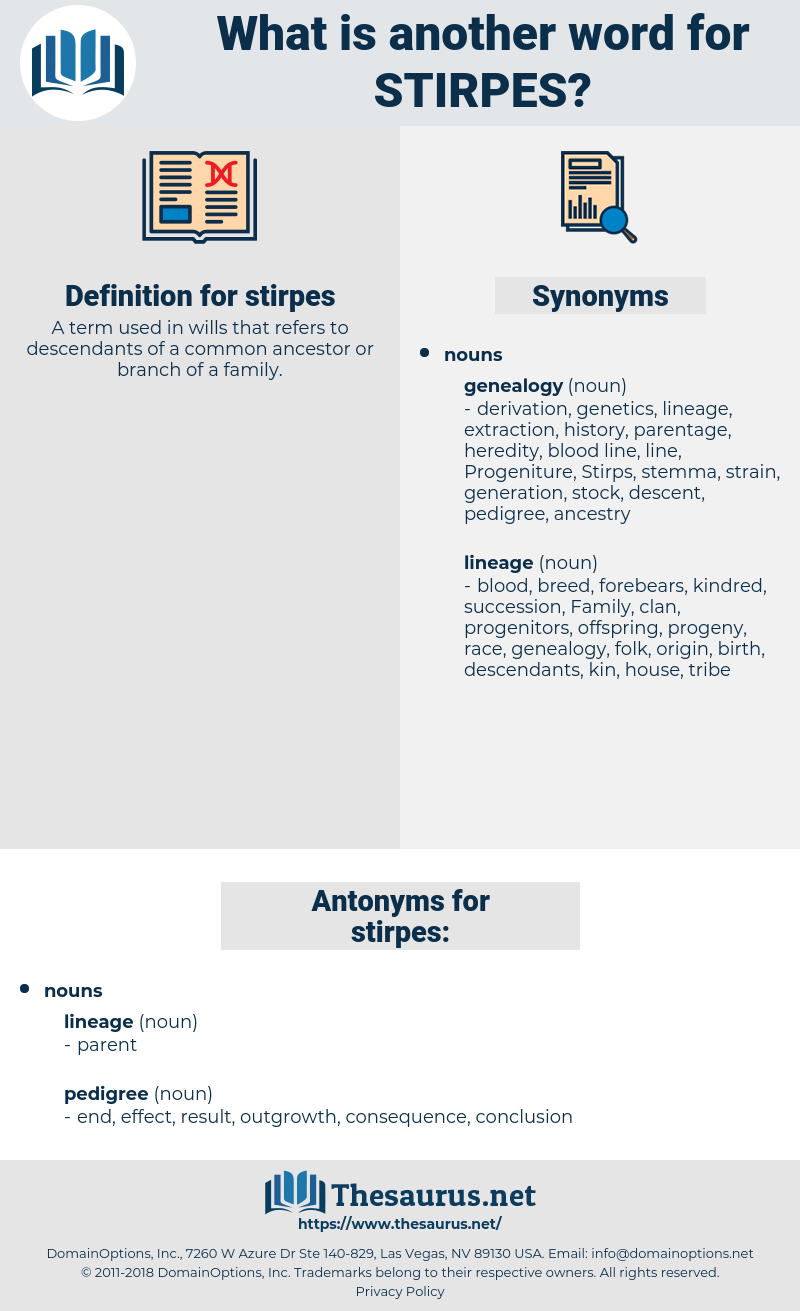 stirpes, synonym stirpes, another word for stirpes, words like stirpes, thesaurus stirpes