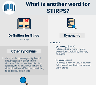 Stirps, synonym Stirps, another word for Stirps, words like Stirps, thesaurus Stirps