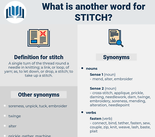 stitch, synonym stitch, another word for stitch, words like stitch, thesaurus stitch