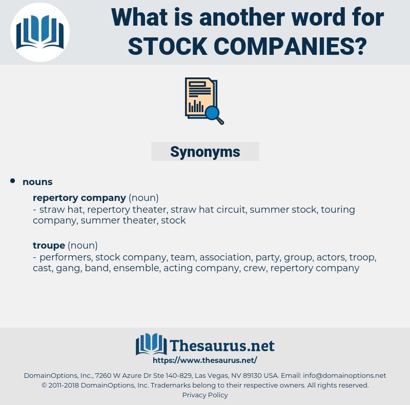 stock companies, synonym stock companies, another word for stock companies, words like stock companies, thesaurus stock companies