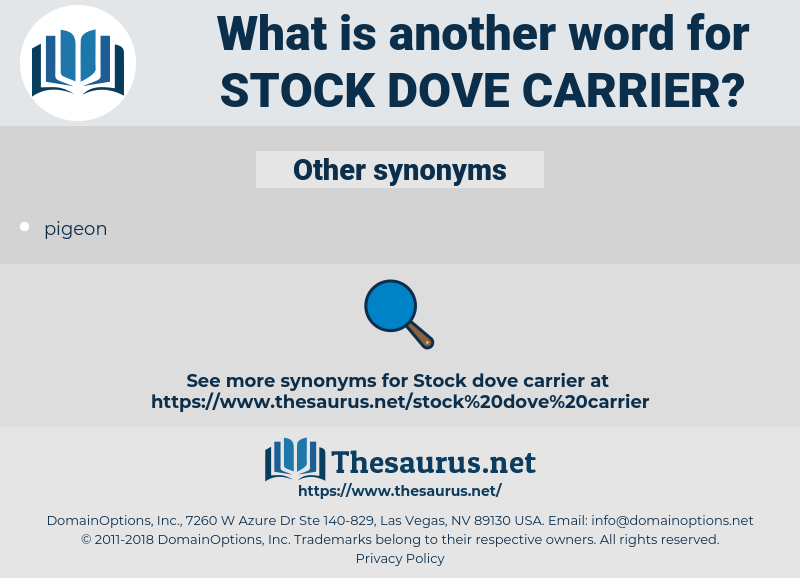 stock dove carrier, synonym stock dove carrier, another word for stock dove carrier, words like stock dove carrier, thesaurus stock dove carrier
