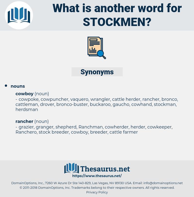 Stockmen, synonym Stockmen, another word for Stockmen, words like Stockmen, thesaurus Stockmen