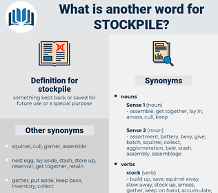stockpile, synonym stockpile, another word for stockpile, words like stockpile, thesaurus stockpile