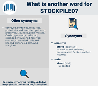 stockpiled, synonym stockpiled, another word for stockpiled, words like stockpiled, thesaurus stockpiled