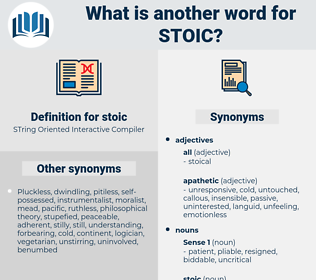 stoic, synonym stoic, another word for stoic, words like stoic, thesaurus stoic
