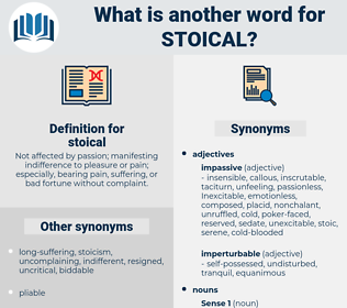 stoical, synonym stoical, another word for stoical, words like stoical, thesaurus stoical