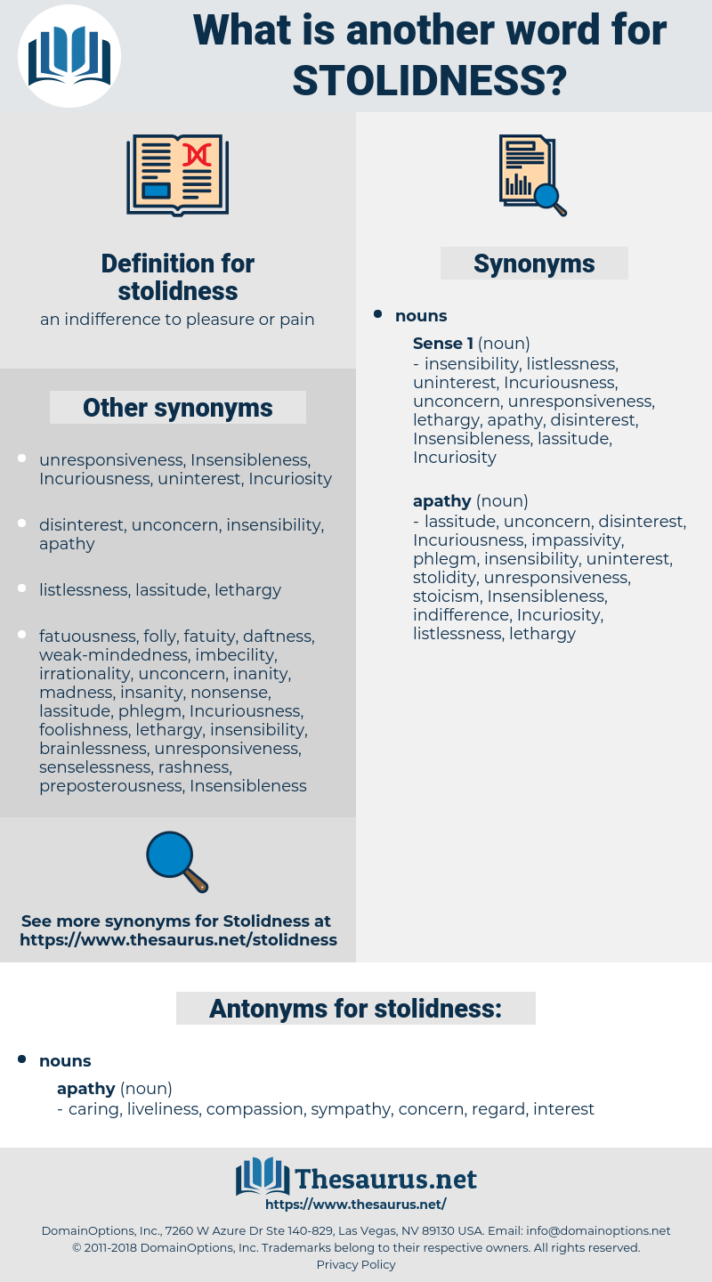 stolidness, synonym stolidness, another word for stolidness, words like stolidness, thesaurus stolidness