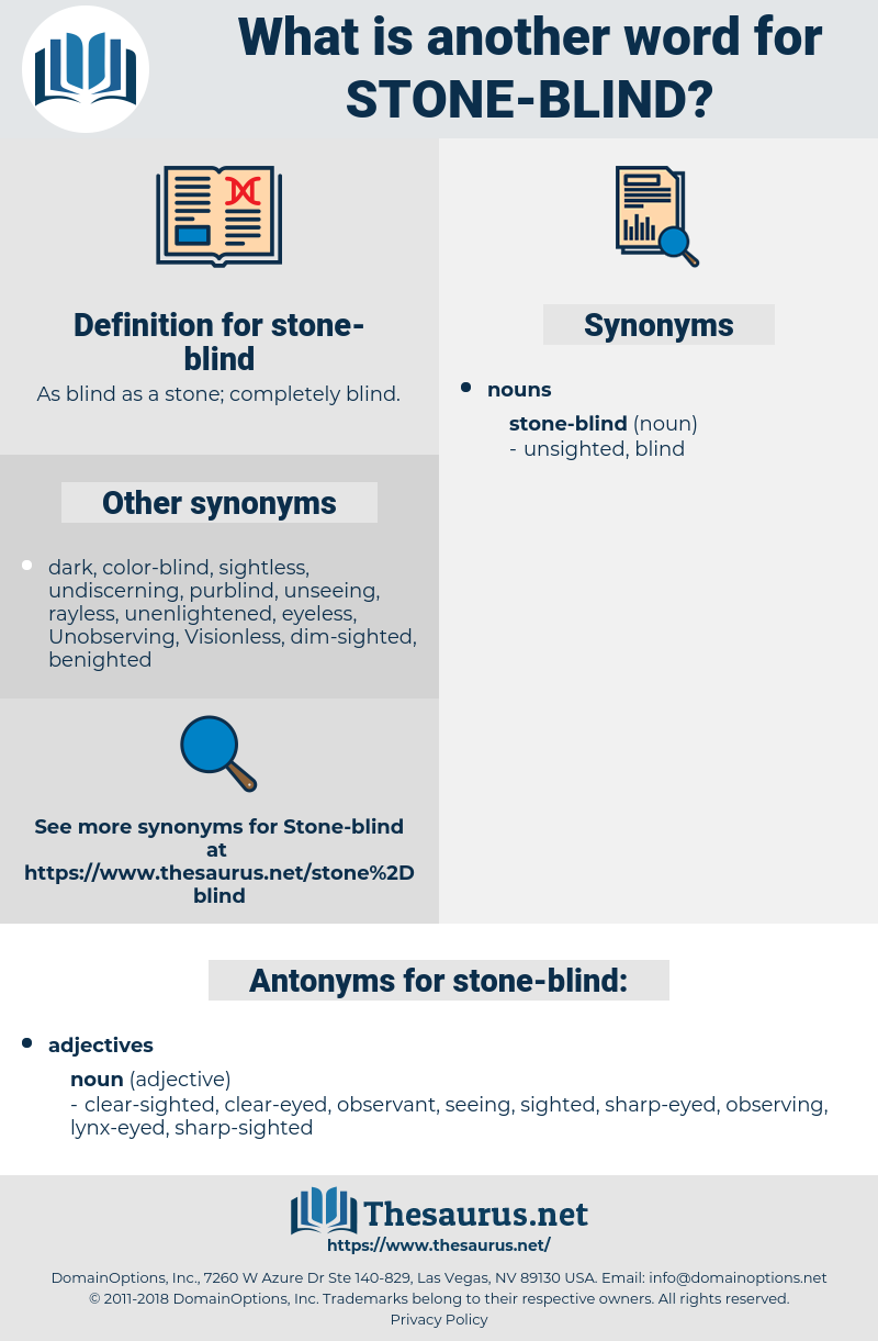 stone-blind, synonym stone-blind, another word for stone-blind, words like stone-blind, thesaurus stone-blind