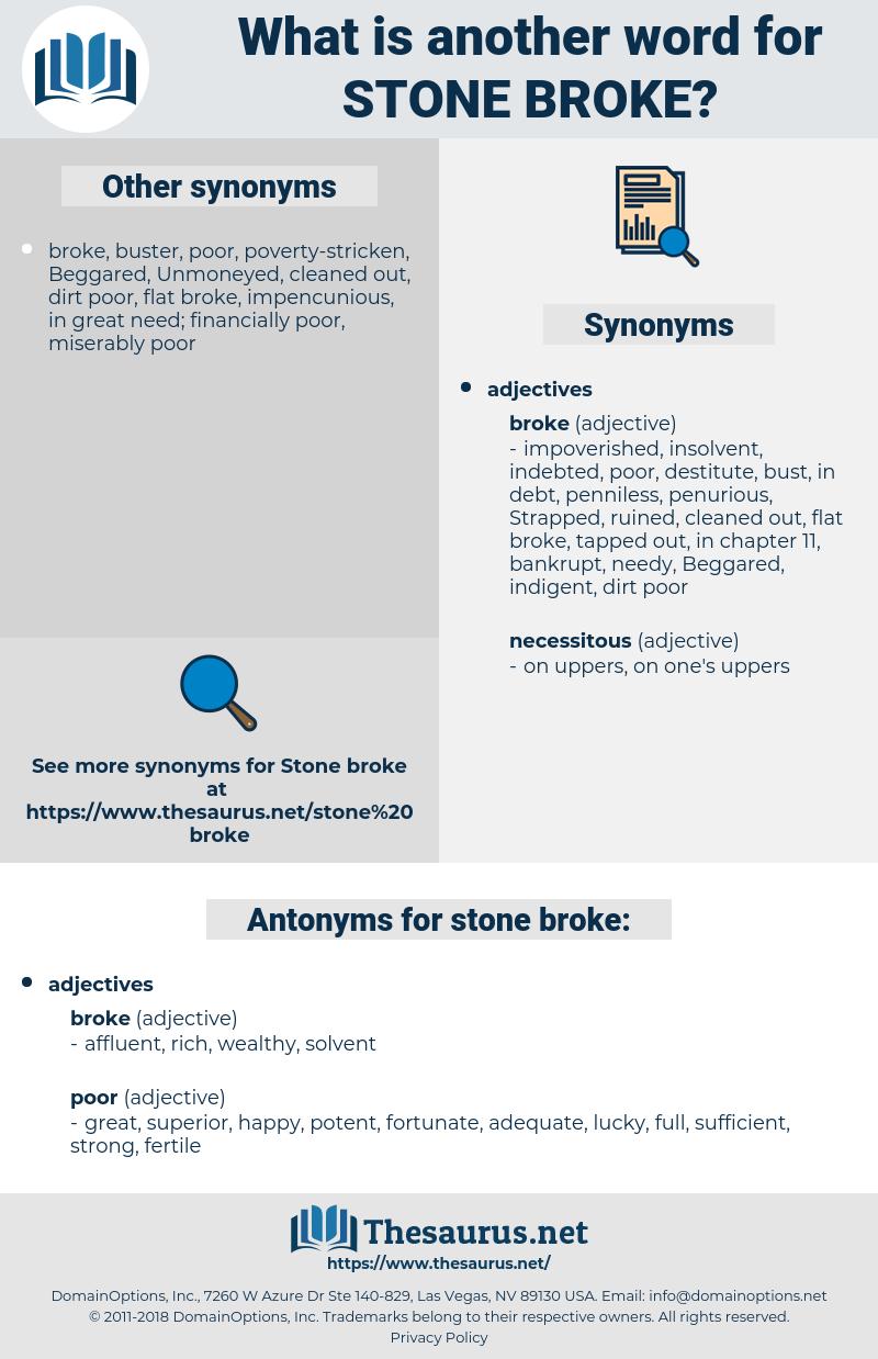 stone-broke, synonym stone-broke, another word for stone-broke, words like stone-broke, thesaurus stone-broke