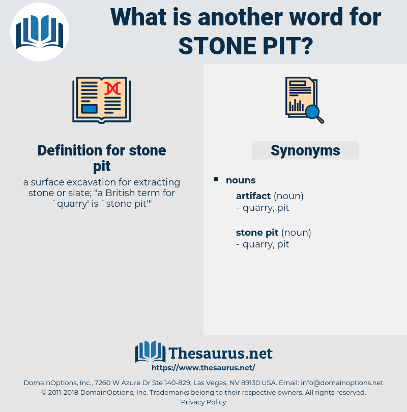 stone pit, synonym stone pit, another word for stone pit, words like stone pit, thesaurus stone pit
