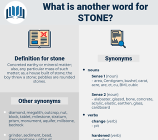 stone, synonym stone, another word for stone, words like stone, thesaurus stone
