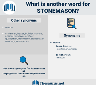 stonemason, synonym stonemason, another word for stonemason, words like stonemason, thesaurus stonemason