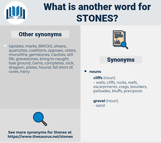 Stones, synonym Stones, another word for Stones, words like Stones, thesaurus Stones