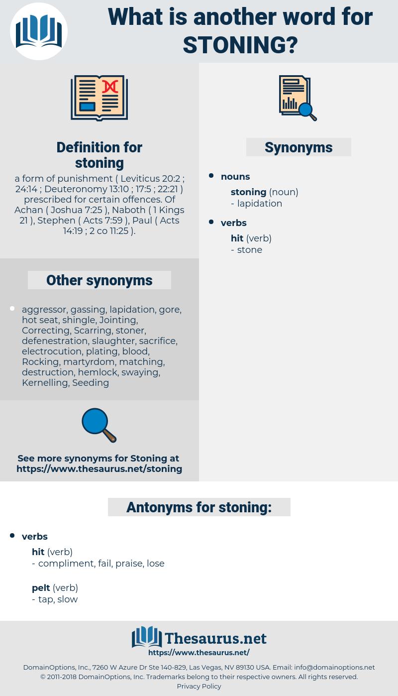 stoning, synonym stoning, another word for stoning, words like stoning, thesaurus stoning