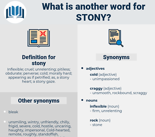 stony, synonym stony, another word for stony, words like stony, thesaurus stony