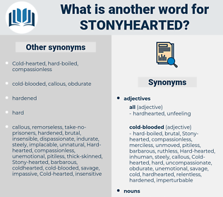 stonyhearted, synonym stonyhearted, another word for stonyhearted, words like stonyhearted, thesaurus stonyhearted