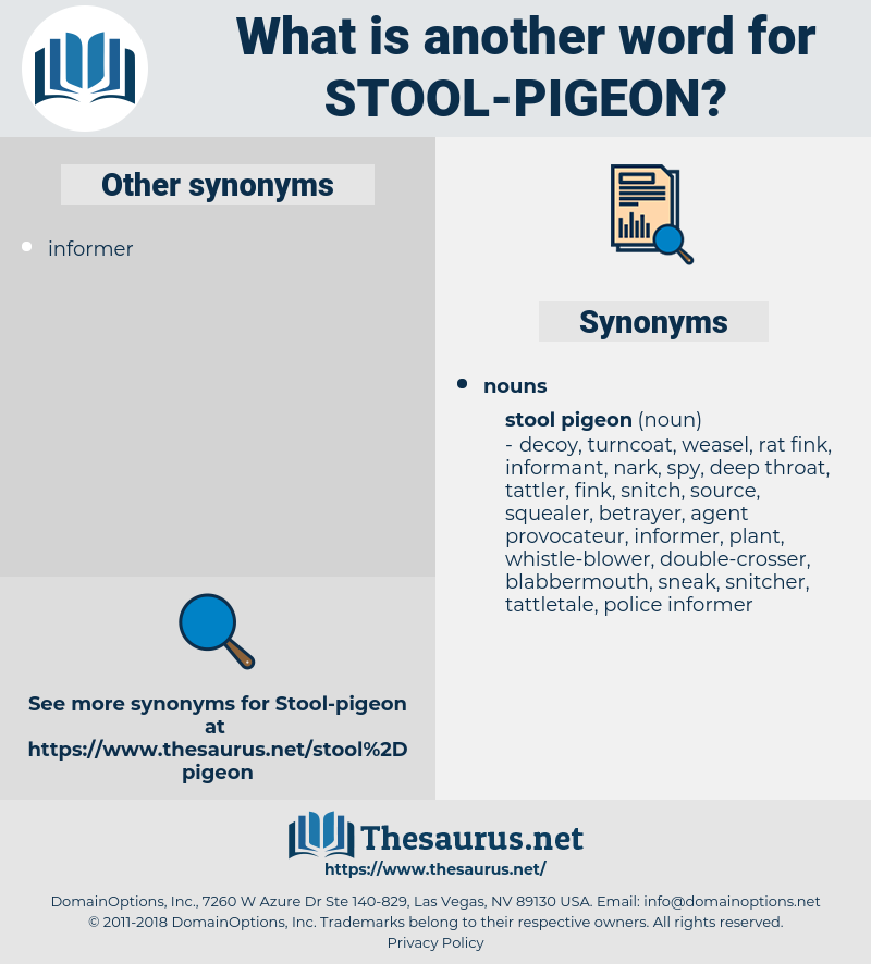 stool pigeon, synonym stool pigeon, another word for stool pigeon, words like stool pigeon, thesaurus stool pigeon