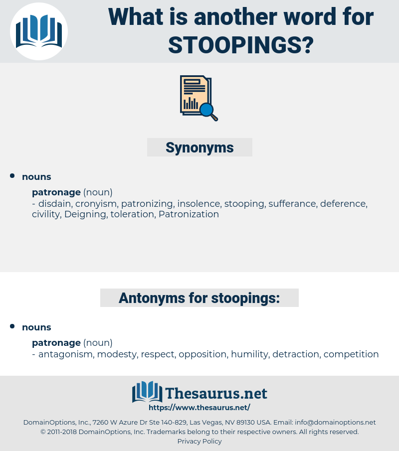 stoopings, synonym stoopings, another word for stoopings, words like stoopings, thesaurus stoopings