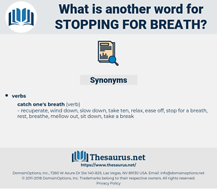 stopping for breath, synonym stopping for breath, another word for stopping for breath, words like stopping for breath, thesaurus stopping for breath
