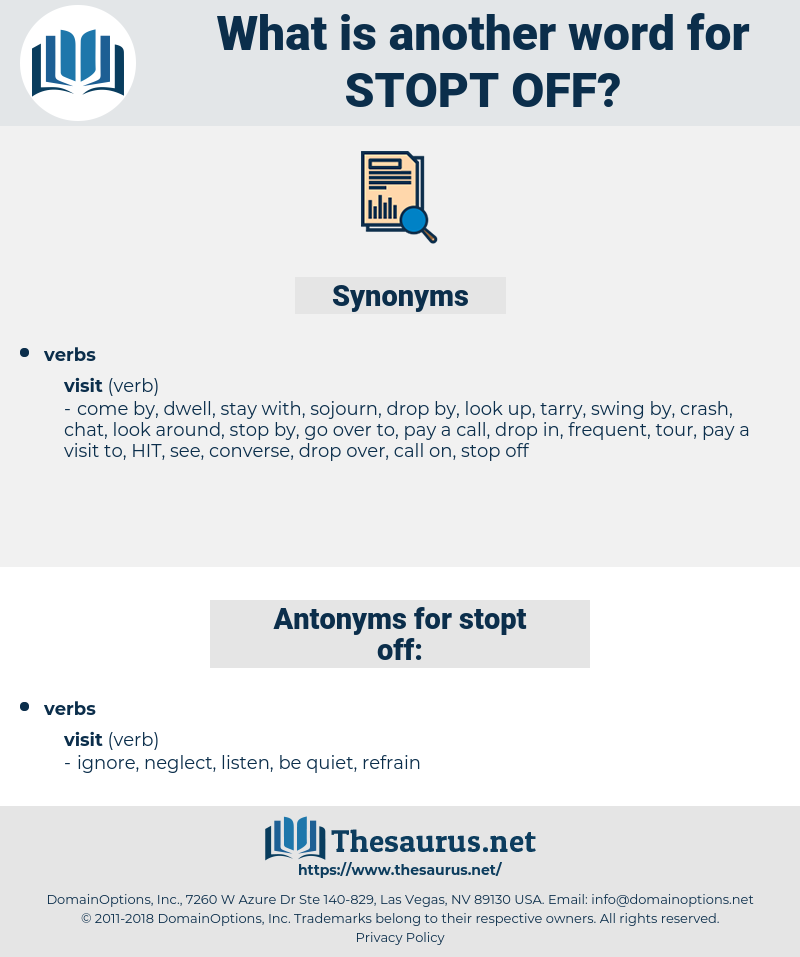 stopt off, synonym stopt off, another word for stopt off, words like stopt off, thesaurus stopt off