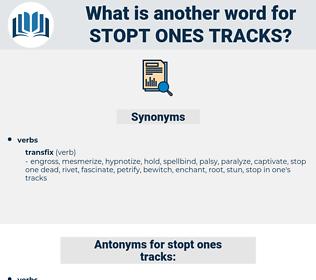 stopt ones tracks, synonym stopt ones tracks, another word for stopt ones tracks, words like stopt ones tracks, thesaurus stopt ones tracks