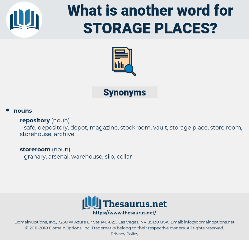 storage places, synonym storage places, another word for storage places, words like storage places, thesaurus storage places