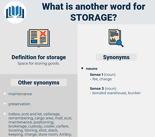 storage, synonym storage, another word for storage, words like storage, thesaurus storage