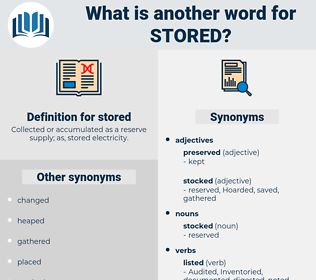 stored, synonym stored, another word for stored, words like stored, thesaurus stored