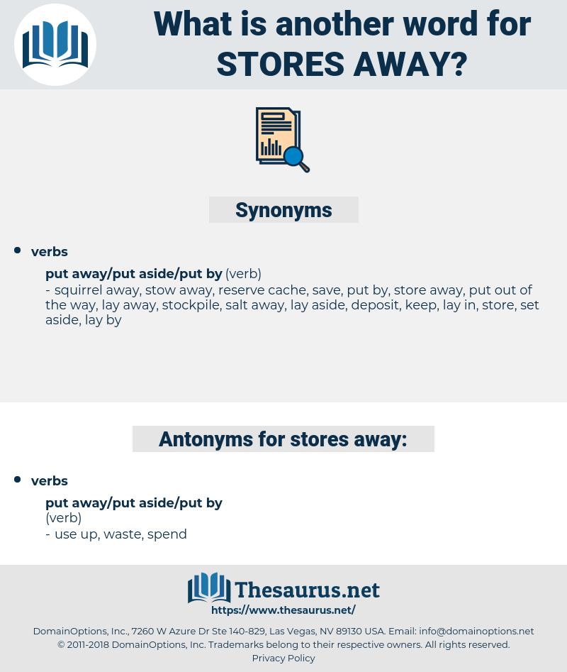 stores away, synonym stores away, another word for stores away, words like stores away, thesaurus stores away