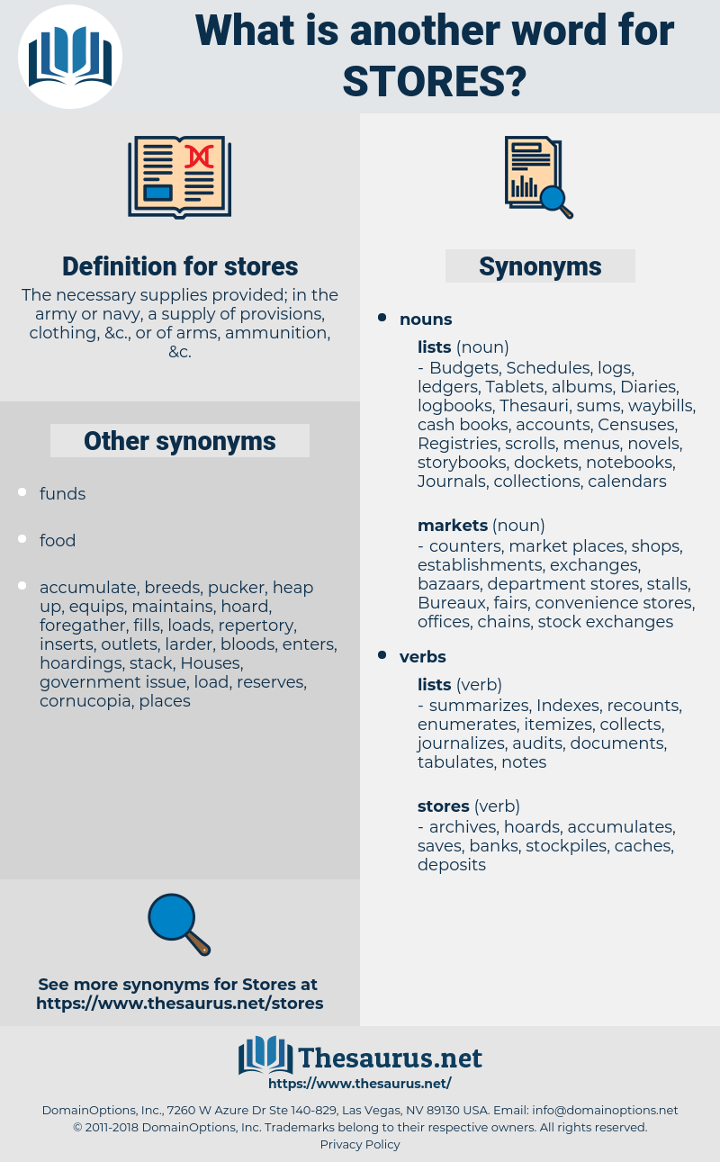 stores, synonym stores, another word for stores, words like stores, thesaurus stores