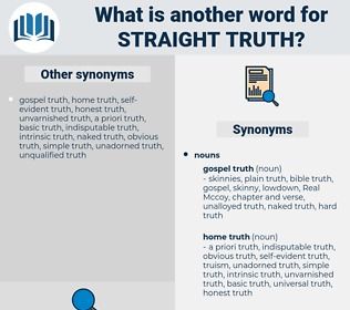 straight truth, synonym straight truth, another word for straight truth, words like straight truth, thesaurus straight truth