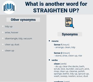 straighten up, synonym straighten up, another word for straighten up, words like straighten up, thesaurus straighten up