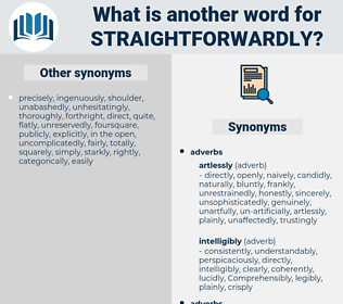 straightforwardly, synonym straightforwardly, another word for straightforwardly, words like straightforwardly, thesaurus straightforwardly