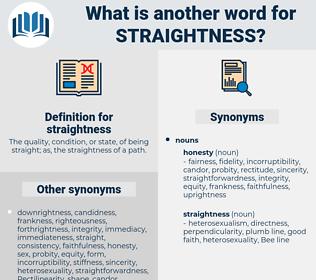 straightness, synonym straightness, another word for straightness, words like straightness, thesaurus straightness