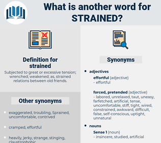 strained, synonym strained, another word for strained, words like strained, thesaurus strained