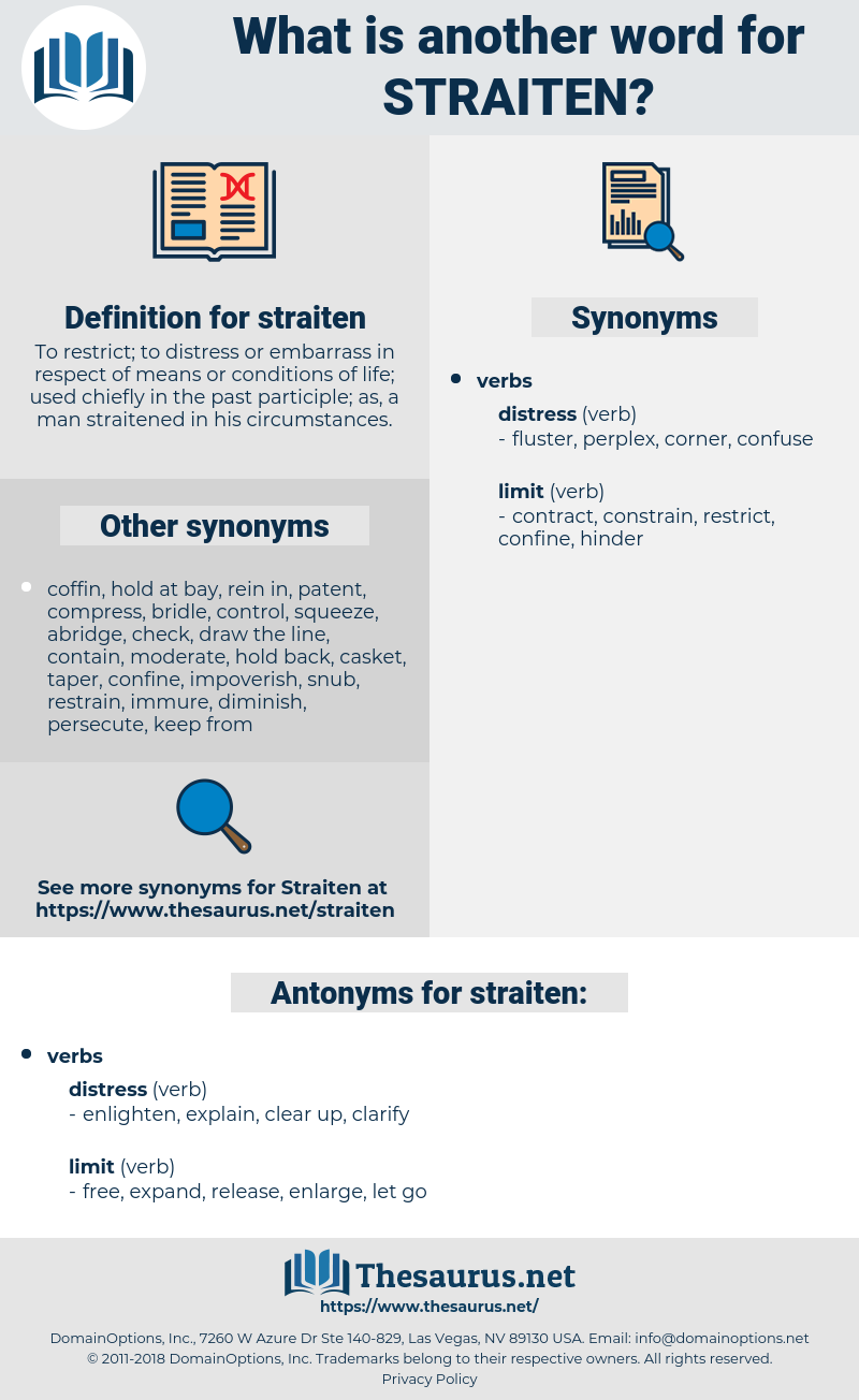 straiten, synonym straiten, another word for straiten, words like straiten, thesaurus straiten