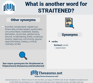 straitened, synonym straitened, another word for straitened, words like straitened, thesaurus straitened