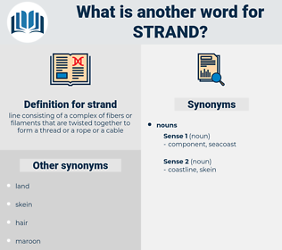 strand, synonym strand, another word for strand, words like strand, thesaurus strand