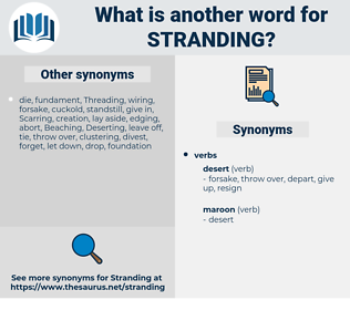 Stranding, synonym Stranding, another word for Stranding, words like Stranding, thesaurus Stranding