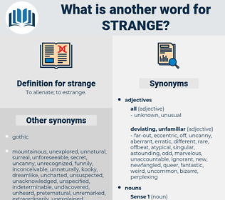 strange, synonym strange, another word for strange, words like strange, thesaurus strange