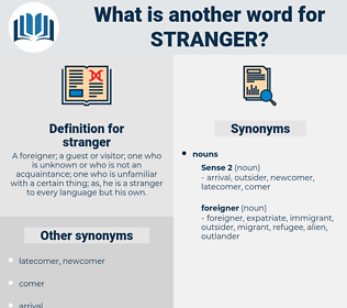 stranger, synonym stranger, another word for stranger, words like stranger, thesaurus stranger