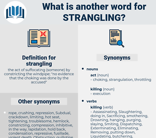 strangling, synonym strangling, another word for strangling, words like strangling, thesaurus strangling