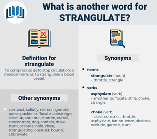 strangulate, synonym strangulate, another word for strangulate, words like strangulate, thesaurus strangulate