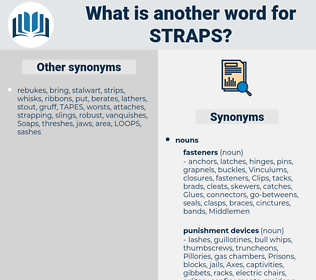 straps, synonym straps, another word for straps, words like straps, thesaurus straps