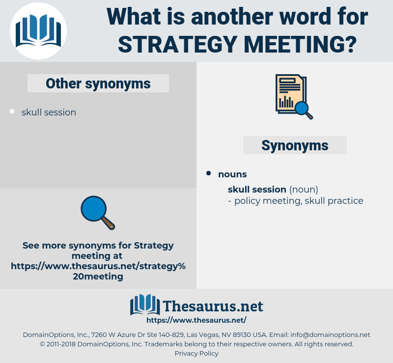 strategy meeting, synonym strategy meeting, another word for strategy meeting, words like strategy meeting, thesaurus strategy meeting