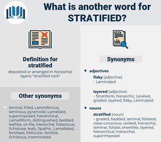 stratified, synonym stratified, another word for stratified, words like stratified, thesaurus stratified