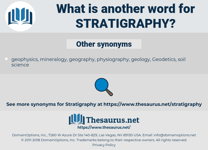 Stratigraphy, synonym Stratigraphy, another word for Stratigraphy, words like Stratigraphy, thesaurus Stratigraphy