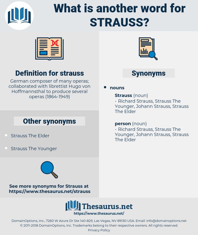 strauss, synonym strauss, another word for strauss, words like strauss, thesaurus strauss